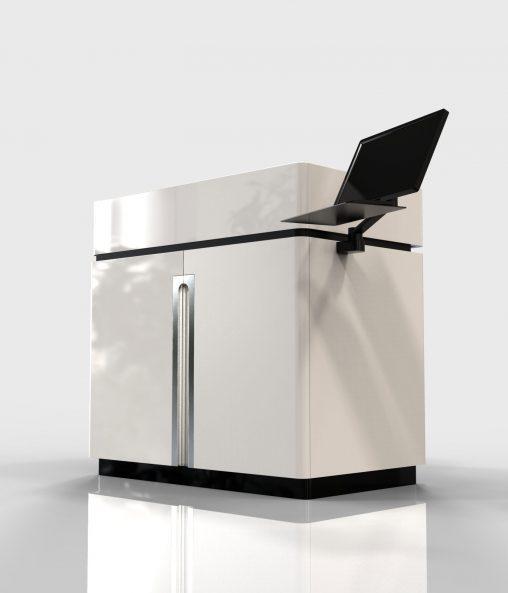 クライアント 電気機器メーカー 様 業務内容 分析装置の筐体デザイン提案。 曲面のデザインと直線的なデザインなど、3タイプの意匠提案。 業務範囲:筐体意匠デザイン 開発期間:約1ヶ月
