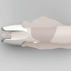 医療補助器具を使用する手