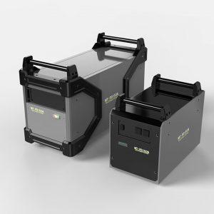 バッテリー電源の筐体デザイン提案。 持ち運びや強度なども考慮したデザインに仕上げた。