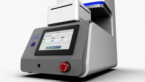 風合い計測機「接触冷温感試験機」のGUIデザイン