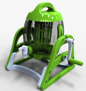 移動式簡易浄水装置「エコポリグル君」