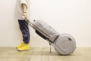 オリジナル丸形キャリーバッグのデザインモック