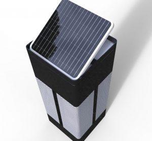 独立型セキュリティーロボット「KB-BOX」の天面