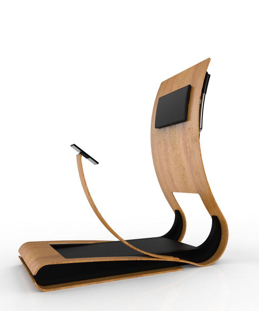 曲線的なデザインをしたウォーキングマシーンの提案