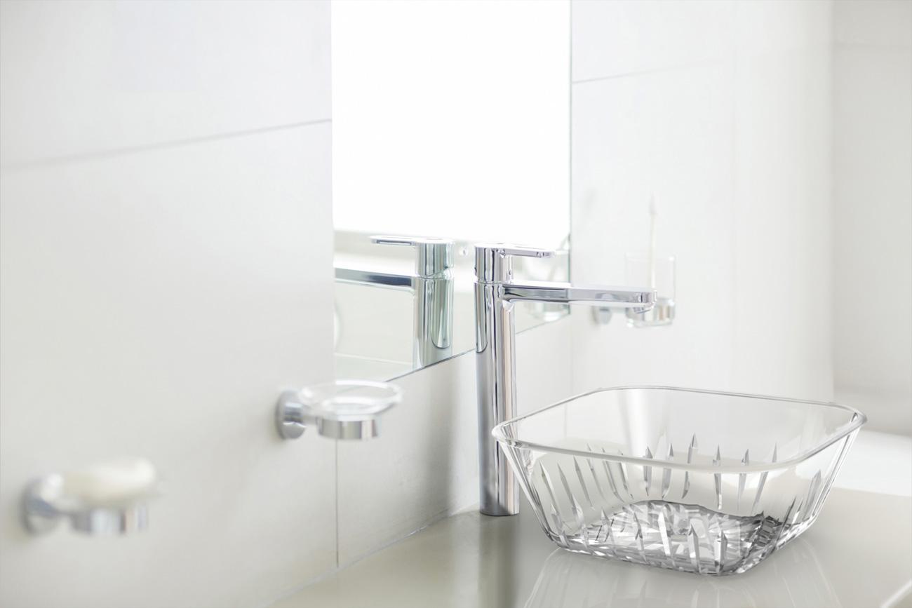ガラスの洗面台のCGレンダリング